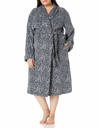 "Casual Moments Women's Plus Size 48"" Wrap Robe"