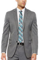 Jf J.Ferrar JF Gray Herringbone Stretch Suit Jacket - Super Slim Fit