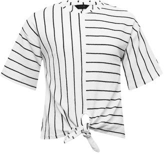 M&Co Teen stripe tie front top