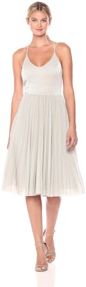 Adelyn Rae Women's Jolene Knit Pleated Fit & Flare