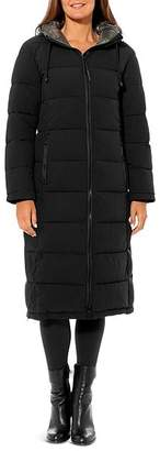 Vince Camuto Contrast Hood Maxi Puffer Coat