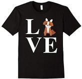 Men's Fox Shirt: Love Foxes Funny Animal Gift T-Shirt Large