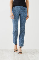 J. Jill Perfect Cotton-Stretch Print Ankle Pants