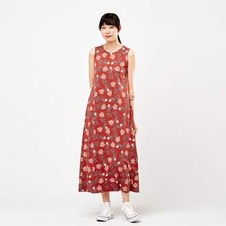 Uniqlo WOMEN Edo Ukiyo-E Sleeveless A Line Long Dress