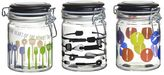 Global Amici Kitchenware Home 3-pc. Hermetic Glass Storage Jar Set