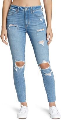 DAZE Money Maker Vintage Ripped High Waist Jeans