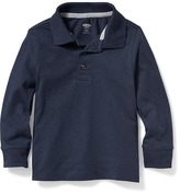 Old Navy Long-Sleeve Polo for Toddler Boys