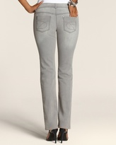 Chico's Platinum Denim Glinting Gray Slim-Leg Jean