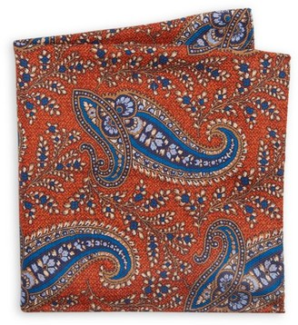 Saks Fifth Avenue COLLECTION Paisley & Medallion Silk Pocket Square