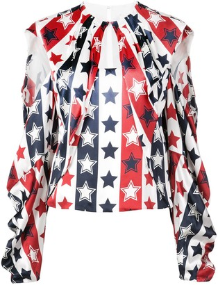 Hellessy stars and stripes blouse