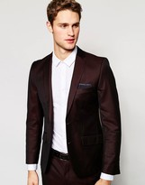 French Connection Burgundy Tonic Suit Jacket
