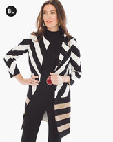 Chico's Stripe-Mix Jacket