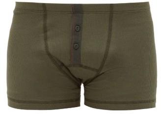 Hemen Biarritz - Albar Ribbed Organic Cotton-blend Boxer Briefs - Green