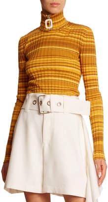J.W.Anderson Striped Wool Zip-Turtleneck Sweater