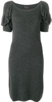 Fendi Pre Owned draped sleeved dress