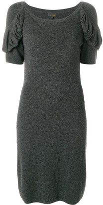 Fendi Pre-Owned Draped Sleeved Dress