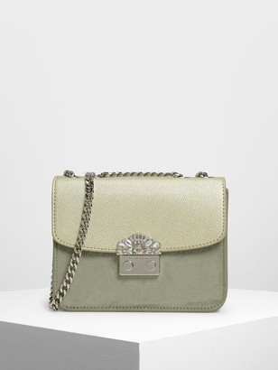 Charles & Keith Push Lock Evening Bag
