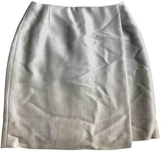 Celine Ecru Linen Skirt for Women Vintage