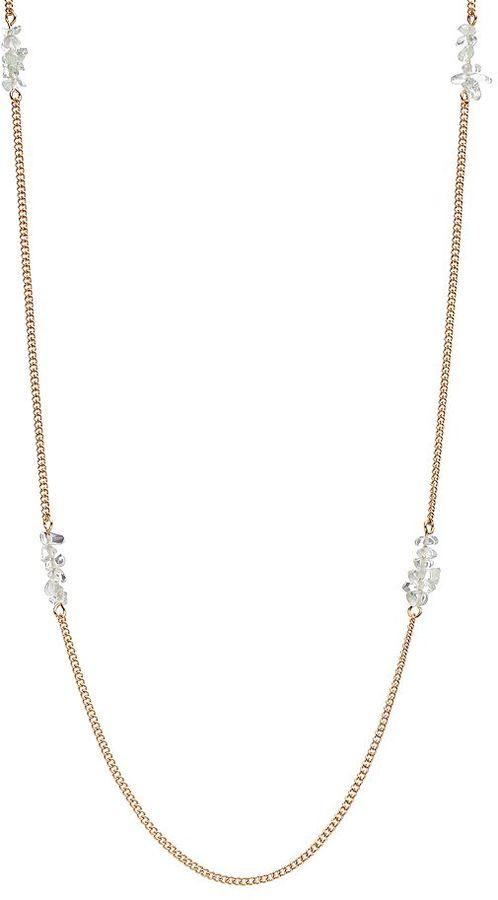 Lauren Conrad bead long station necklace