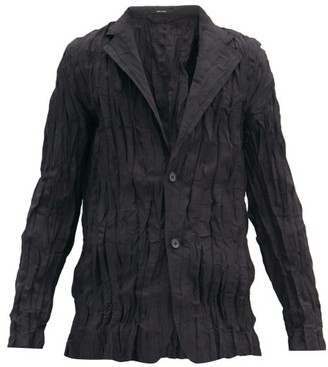 Issey Miyake Single-breasted Crinkled Technical-jersey Blazer - Black