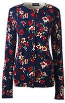 Classic Women's Petite Supima Print Cardigan Sweater-Celestial Blue Floral