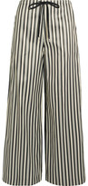 McQ by Alexander McQueen Striped Twill Wide-leg Pants - Gray