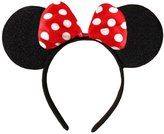 DangerousFX Black With Bow & White Polka Dot Minnie MoUSe Disney Fancy Dress Ears Head Band
