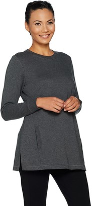 Denim & Co. Active Crew Neck Long Sleeve Tunic