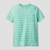 Cat & Jack Boys' Stripe Printed Pocket T-Shirt - Cat & Jack Sea Green