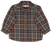 Bonpoint Long-Sleeve Plaid Poplin Shirt, Size 6-12 Months