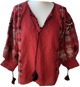 Nili Lotan Red Linen Top for Women