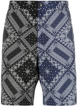 Ports V two-tone bandana shorts