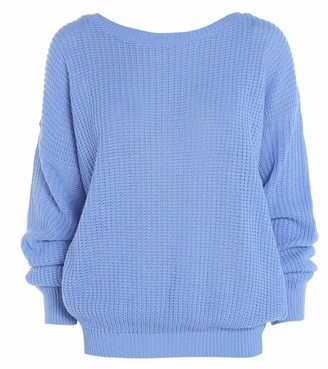 Hamishkane New Ladies Long Sleeve Cable Knitted Casual Basic Jumper Baggy Winter Sweater Top