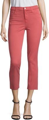 J Brand Ruby High-Rise Crop Twill Skinny Jeans