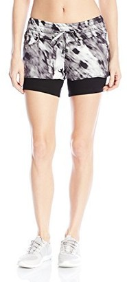 Blanc Noir Women's Printed Silk Jog Short