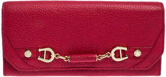 Aigner Red Leather Continental Wallet