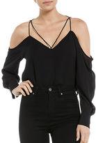 Bardot Stevie Cold-Shoulder Blouse