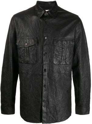 Zadig & Voltaire Leather Crinkled Shirt