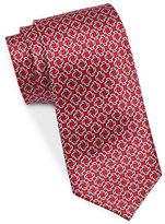 Black Brown 1826 Patterned Silk Tie
