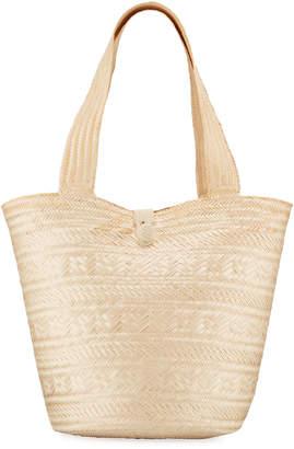 Soraya Hennessy Ivy Woven Palm Tote Bag
