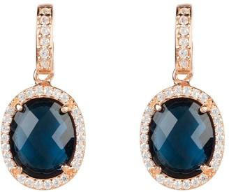Latelita Beatrice Oval Gemstone Drop Earring Rose Gold Sapphire Hydro