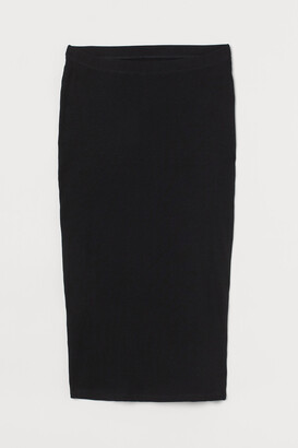 H&M MAMA Ribbed Jersey Skirt