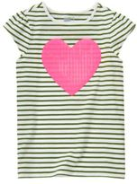 Crazy 8 Heart Stripe Tee