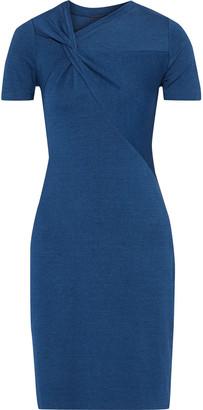 Elie Tahari Deidra Twisted Melange Stretch-jersey Mini Dress
