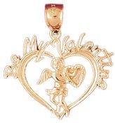 Clevereve 14K Gold Pendant Heart 1.9 Gram(S)