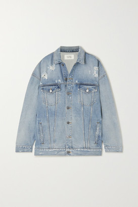 Givenchy Oversized Distressed Denim Jacket - Blue