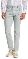 Kiton Twill Five-Pocket Jeans, Cement