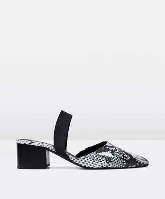 Sol Sana Madison Leather Mule Snakeskin