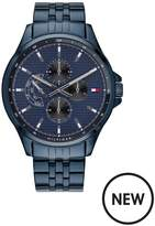 Tommy Hilfiger Tommy Hilfiger Blue Chronograph Dial Blue IP Stainless Steel Bracelet Mens Watch