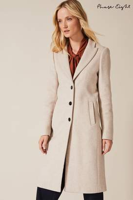 Phase Eight Womens Neutral Samantha Single Breasted Coat - Natural